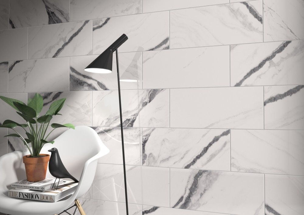 porcelain, marble-look, white, traditional, elegant,