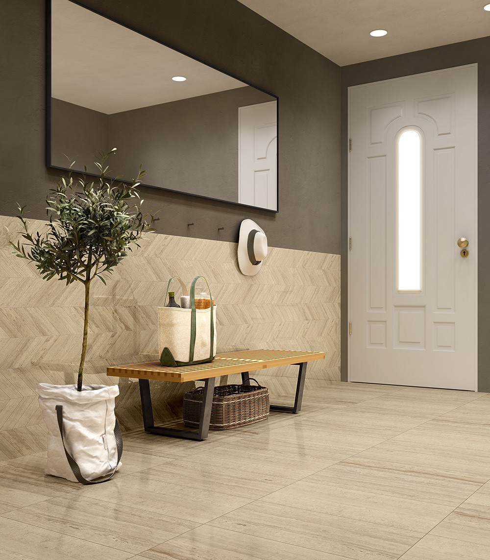 porcelain, marble-look, traditional, natural, veins, beige