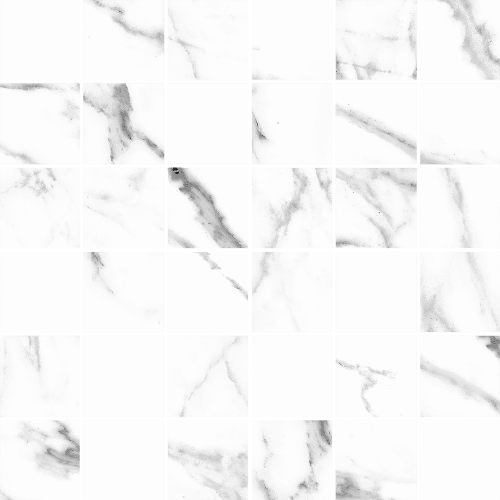 Cava 2x2 mosaic tile in color White