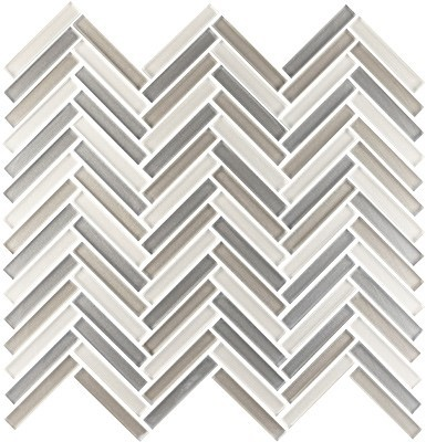 Shimmer glass collection dusk herringbone