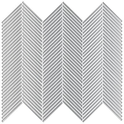 Shimmer glass collection silver chevron