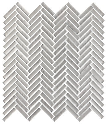 Shimmer glass collection silver herringbone