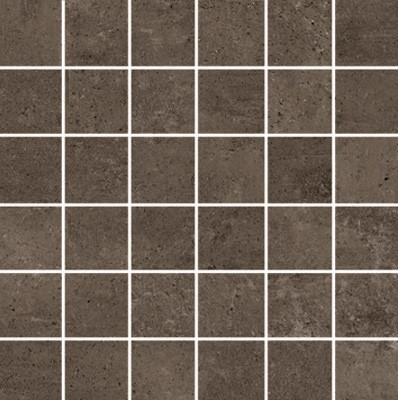 Simply Modern 2x2 mosaic tile in color Coffee
