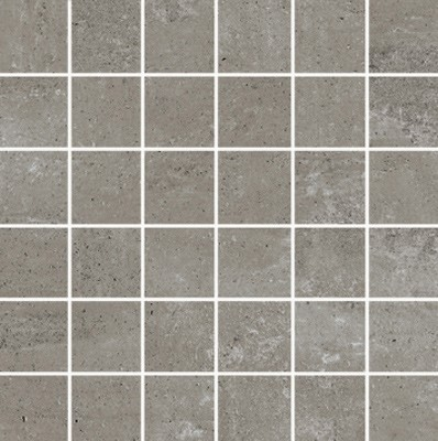 Simply Modern 2x2 mosaic tile in color Grey