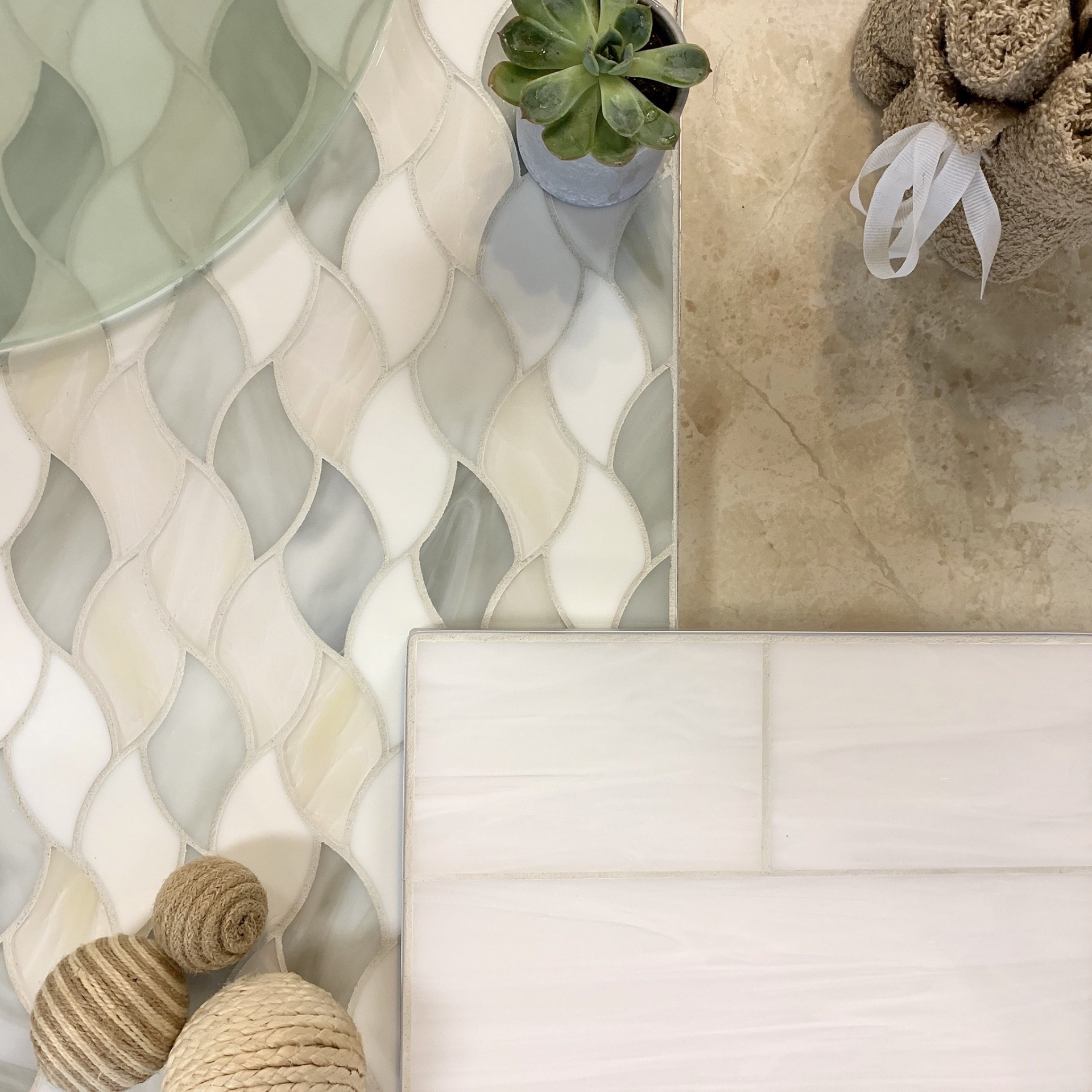 Flat layout of tile inspiration