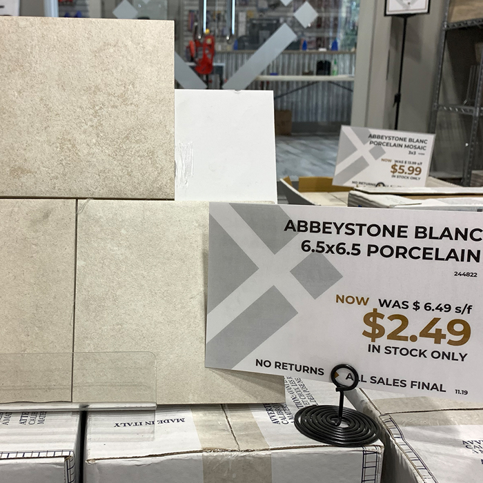 Abbeystone Blanc 6.5x6.5 - the Outlet at Tile America
