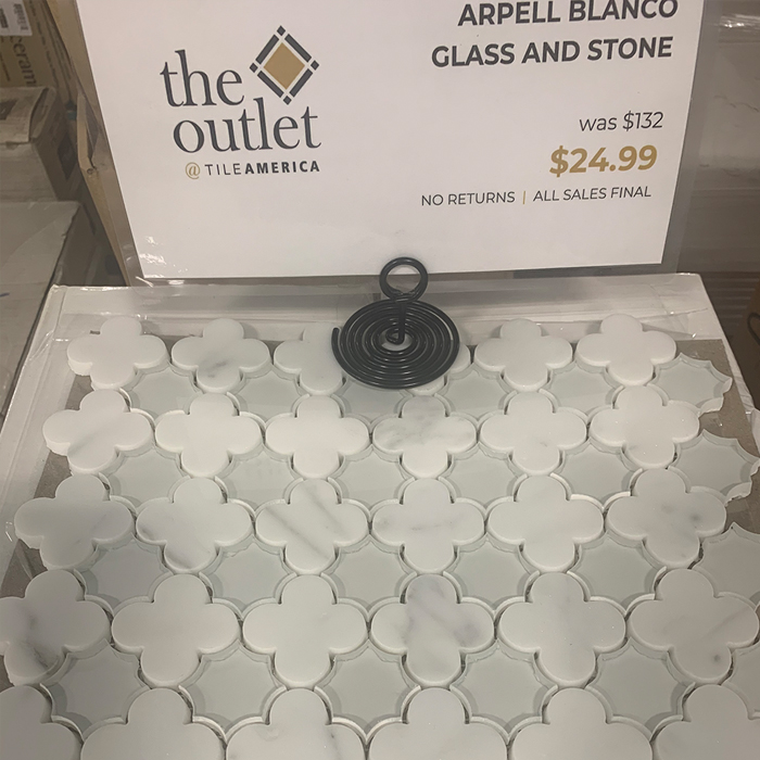 Arpell Bianco Glass and Stone.  The Outlet West Hartford