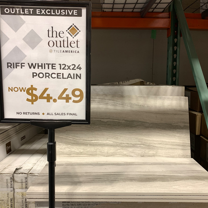 Riff White 12x24 from the Outlet at Tile America