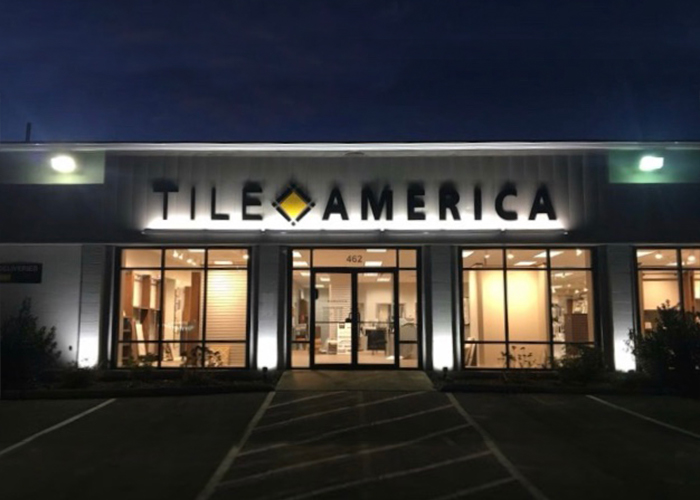 Exterior of Tile America New London Connecticut